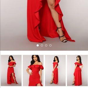 2a7b6a4a26d Fashion Nova Dresses - Fashion nova Chasin  love ruffle dress red